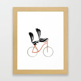 Reason NINE for using bike: Framed Art Print
