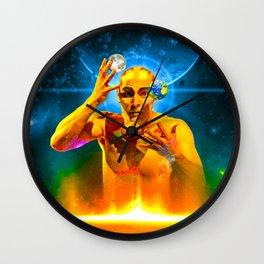 Cosmic Juggling Wall Clock
