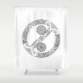 """No Colon"" Symbol Shower Curtain"