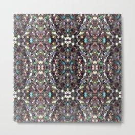 Macro Glitter Pattern Metal Print