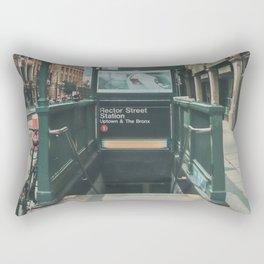 New York City Subway 2 Rectangular Pillow
