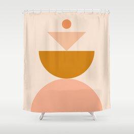 Abstraction_BALANCE_MODERN_Minimalism_Art_001 Shower Curtain