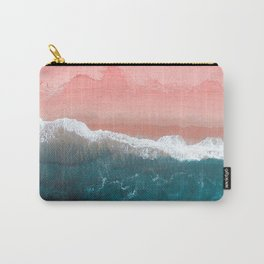 Turquoise Sea Pastel Beach II Carry-All Pouch