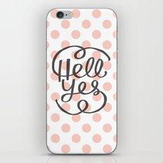 Hell Yes! (Peach) iPhone & iPod Skin