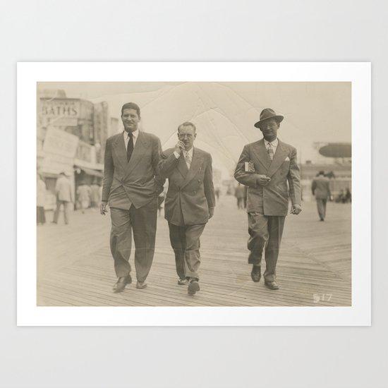 Vintage Suits on the Boardwalk Art Print