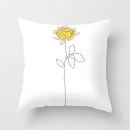 Lemon Rose Throw Pillow