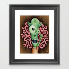 Monster 1: Floyd. Framed Art Print
