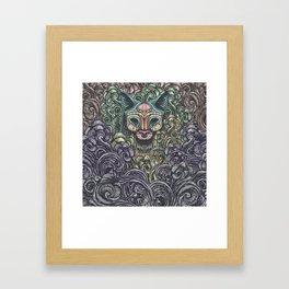 Bastet on the field Framed Art Print