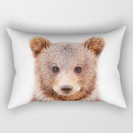 Baby Bear, Baby Animals Art Print By Synplus Rectangular Pillow