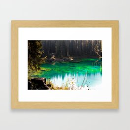 Lake Carezza Framed Art Print