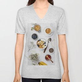 healthy breakfast Unisex V-Neck