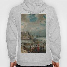 """Adam van Breen """"Skating on the Frozen Amstel River, 1611"""" Hoody"""