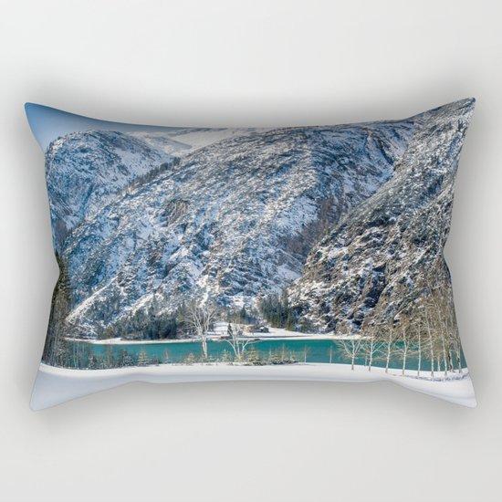 Achensee Winter Landscape Rectangular Pillow