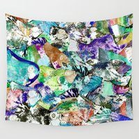 school Wall Tapestries featuring School by Nancy Smith