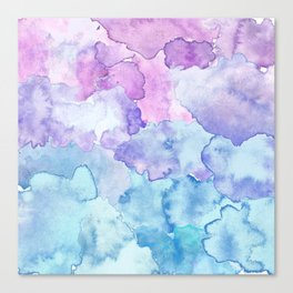 Watercolor clouds Canvas Print