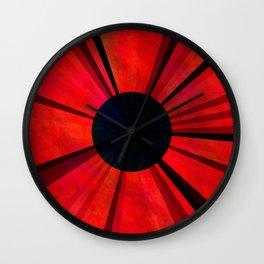 Red Darkviolet Sun Wall Clock