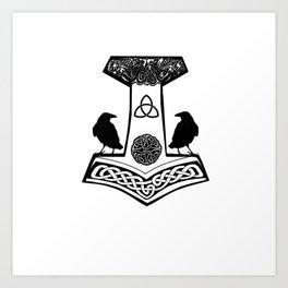 Mjolnir - Thor's hammer Art Print