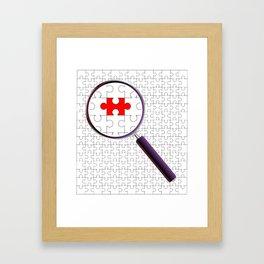Odd Piece Magnifying Glass Framed Art Print