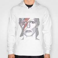bowie Hoodies featuring Bowie by S. L. Fina
