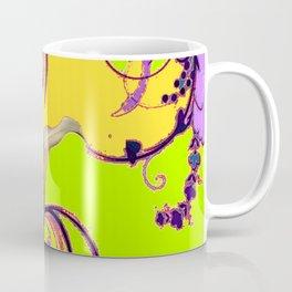 Fantasy Calla Lily Garden Gold-Lilac-Lime Color Designs Coffee Mug