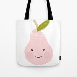 Kawaii pear art print. Tote Bag