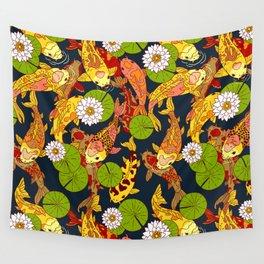 Bright Koi Wall Tapestry