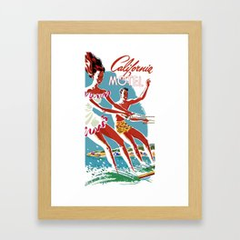 CALIFORNIA MOTEL Framed Art Print