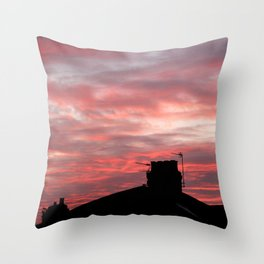Winter sunset over London Throw Pillow