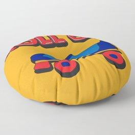Roll On Rollerskate Floor Pillow