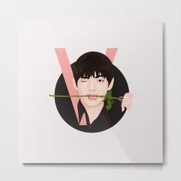 V BTS Metal Print