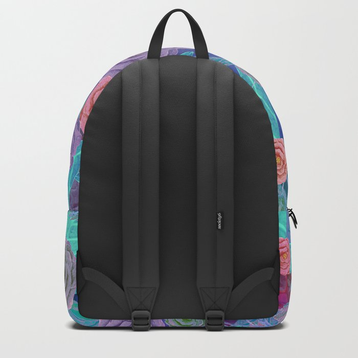 Vintage Flowers (Blue) Backpack