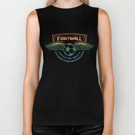 Awesome Football Makes Me Happy Vintage Graphic Biker Tank