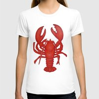lobster T-shirts featuring Lobster by Fischer Fine Arts