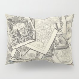 TROMPE L'OEIL Prints papers Engravings - 18th century France King Louis XV Drawing Home Decor Wall Engraving Pillow Sham