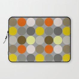 Mid-Century Giant Dots, Gray, Gold and Orange Laptop Sleeve