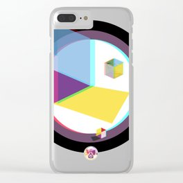 3D Cube Clear iPhone Case
