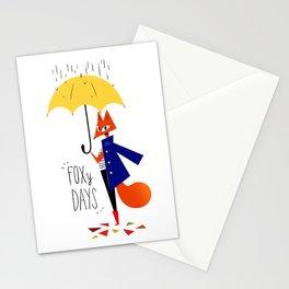 Foxy Days Stationery Cards
