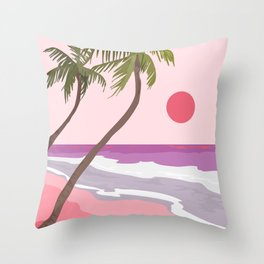 Tropical Landscape 01 Throw Pillow