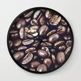 roasted coffee beans texture acrfn Wall Clock