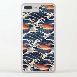 Japanese Redfish and Waves Clear iPhone Case