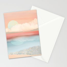 Mint Moon Beach Stationery Cards