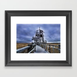 Observation Tower - Great Salt Lake Shorelands Preserve - Utah Framed Art Print