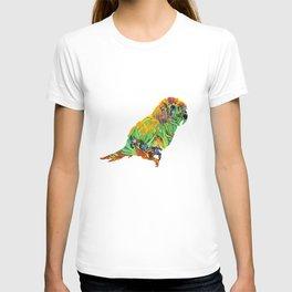 Iris By Van Gogh On Parrot By Annie Zeno T-shirt