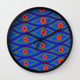 Their Eyes - Royal Blue Wall Clock