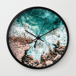 Aerial Ocean Print, Ocean Landscape, Beach Photography, Beach Print, Ocean Print, Ocean Water Wall Clock