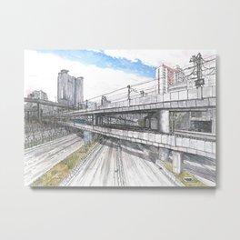 Hong Kong Highway Metal Print