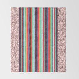 Stripes and pattern in primaries Throw Blanket