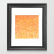 Ombre yellow and orange swirls doodles Framed Art Print