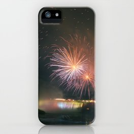 Fireworks over Falls iPhone Case