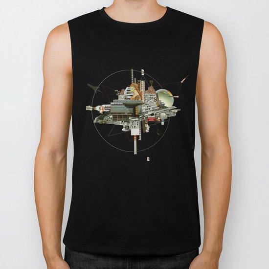 Collage City Mix 4 Biker Tank